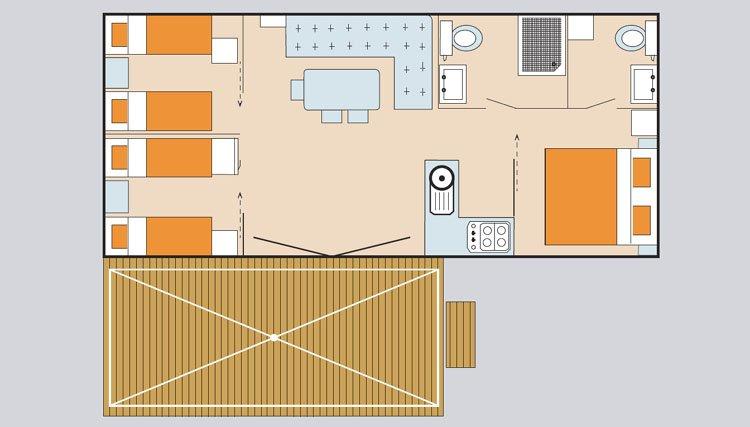 stacaravan 3 slaapkamers