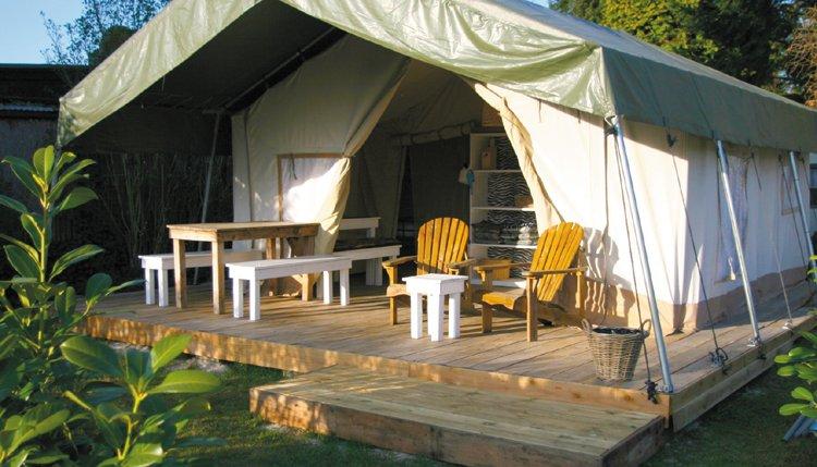 Familiecamping Tillessensee - Safaritent exterieur