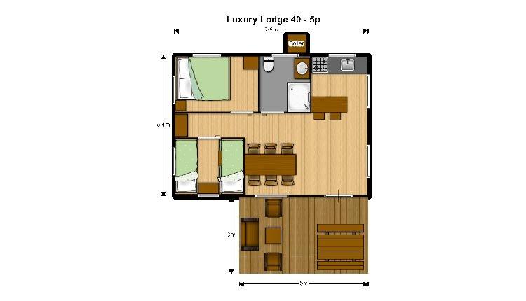 Plattegrond Luxury Lodge