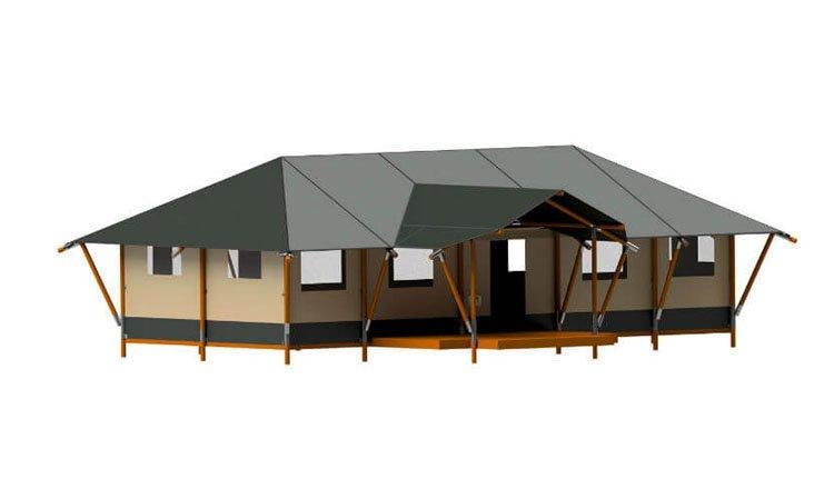 Groepsaccommodatie: safaritent met sanitair