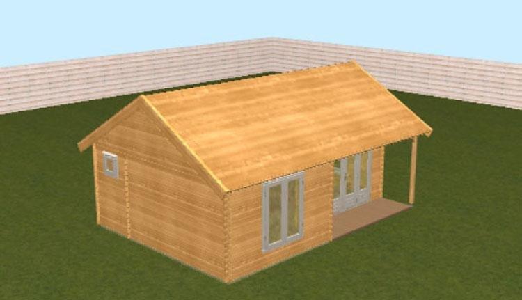 Camping Borken am See - houten chalet exterieur